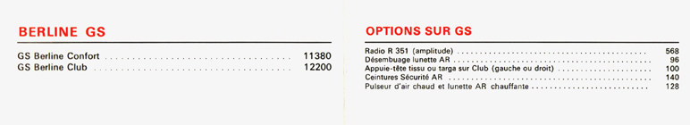 Commercialisation de la première GS Citroen%20GS%2024.07.1979%20F.2